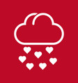 cloud and rain of love vector image vector image