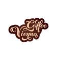 coffee vienna logo handwritten lettering design vector image