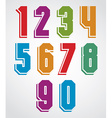 Colorful decorative geometric numbers with white vector image