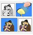 couple love dialogue man and woman huggins vector image