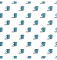 cute blue cup pattern seamless vector image