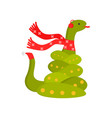cute kind snake is a symbol of the new year snake vector image vector image