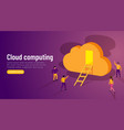 door to innovation cloud computing group of vector image vector image