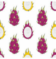 dragon fruit seamless pattern for design vector image vector image