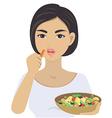 eat vegetarian vector image vector image
