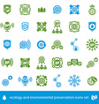 Ecology and environmental conservation icons set vector image vector image