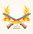 emblem for hunting or shooting vector image vector image