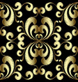 embroidery gold paisley seamless pattern vector image vector image