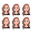 face expressions of realtor woman vector image vector image