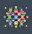 Flat design infographics icons concept vector image vector image