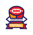 football championship logo template american vector image