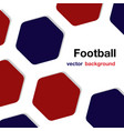 football red blue hexagon white background vector image vector image
