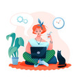freelance remote work flat vector image