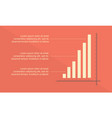 graph design style business infographic vector image vector image