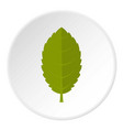 green plum leaf icon circle vector image vector image
