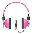 Headphones pink vector image
