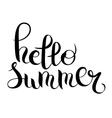 hello summer hand written lettering inscription vector image