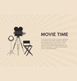 horizontal poster template for movie festival with vector image