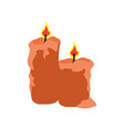 isolated pair of candles vector image vector image