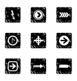 Kind of arrow icons set grunge style vector image vector image