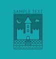 Line Art Badge or Logo Template Line Art of Castle vector image vector image