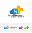 medical house logo vector image vector image