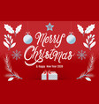 merry christmas happy new year 2020 vector image