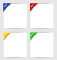 New clip corner on white paper vector image vector image