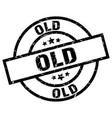 old round grunge black stamp vector image vector image