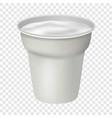 open white yogurt mockup realistic style vector image vector image
