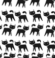 Pattern black cat vector image