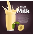 Plum sweet milkshake dessert cocktail vector image vector image