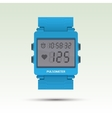 pulsometer of heart beat rate monitor vector image vector image