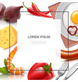realistic food colorful template vector image vector image
