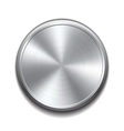 Realistic metal button vector image vector image