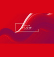 red fluid wave background duotone gradient shape vector image vector image