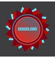 Red Style Star With Label Sign Download vector image vector image