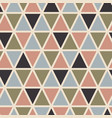 retro seamless pattern with triangles vector image vector image