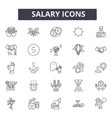 salary line icons signs set outline vector image vector image