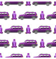 seamless pattern luxury car transportation vector image vector image
