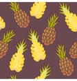 Seamless pineapple vector image