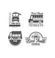 set of emblems and badges for food truck vector image