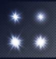 sparkling stars flickering and flashing lights vector image vector image