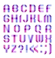Spectral letters folded of paper ribbon-purple vector | Price: 1 Credit (USD $1)