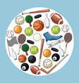 sport accessories equipment icon vector image