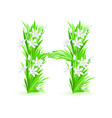 spring flowers alphabet h vector image vector image