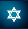 star of david icon isolated on blue background vector image vector image