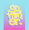 summer lettering postcard vector image vector image