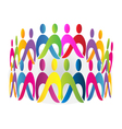 Teamwork meeting people logo design vector image vector image