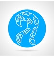 Tentacle blue round icon vector image vector image